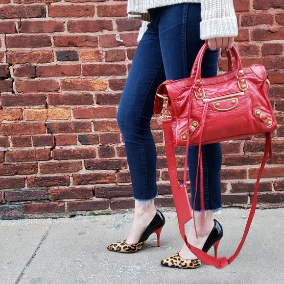 c339265d8fc8 Balenciaga Handbags - Balenciaga Textured City Bag in Red